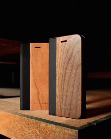 手帳型の木製iPhone7/7 Plus専用ケース