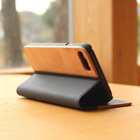 手帳型の木製iPhone7専用ケース