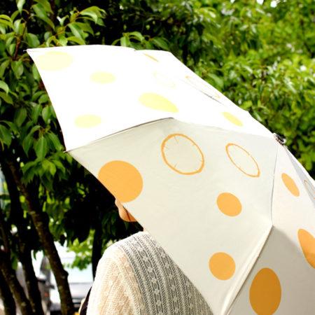木の年輪が描かれた折りたたみ傘