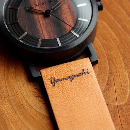 【再入荷】名入れ刻印可能の木製腕時計