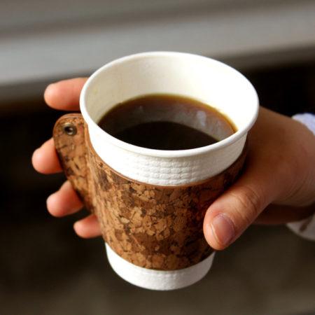 【新商品】コルクのコーヒーカップスリーブ