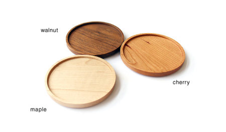 【新商品】木製コースターのチェリー材
