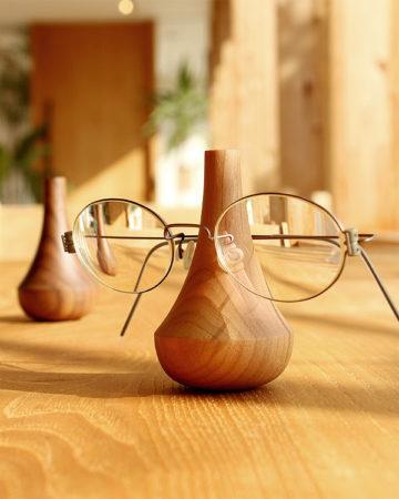 【父の日ギフト】木製のメガネスタンド