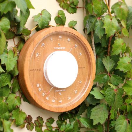 【Weddingギフト】木製の温湿時計