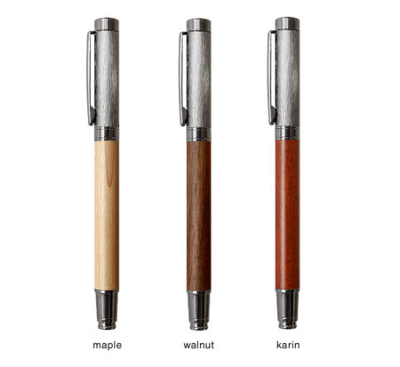 【新商品】丸型木製ボールペン