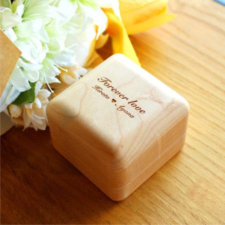 【新商品】木製リングケース