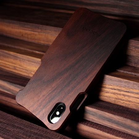 iPhone X用木製ケース