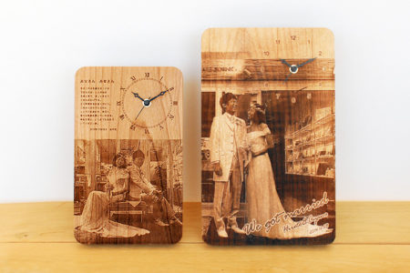 【Weddingギフト】写真刻印付きの時計